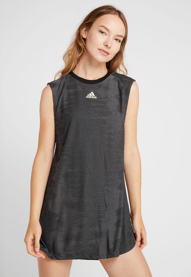 adidas Performance - DRESS SET - Sportovní šaty - black/glow green