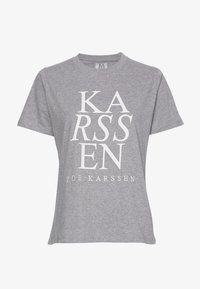 Zoe Karssen - T-shirt con stampa - grey melee - 4