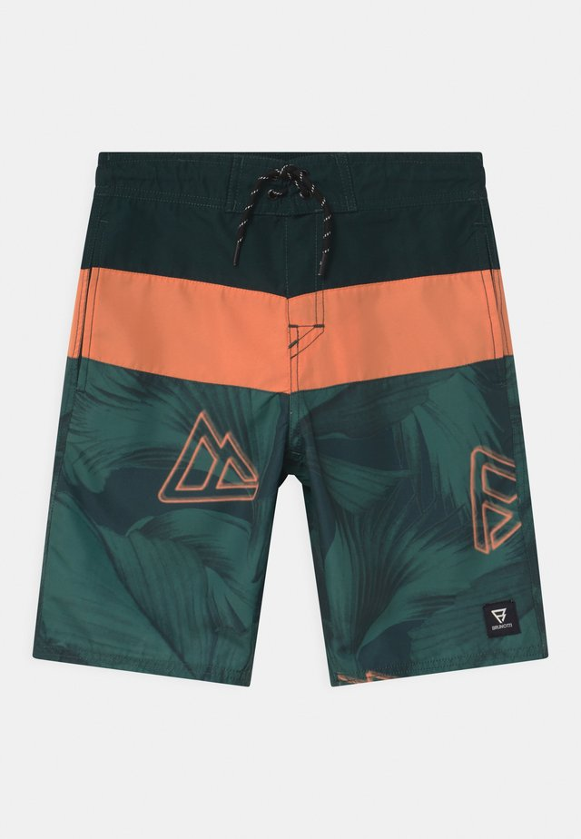 CATAMARAN LEAF - Swimming shorts - foresta green