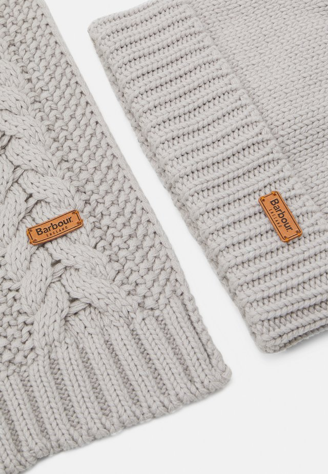 CABLE BEANIE SCARF SET - Scarf - ice white