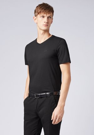 "BOSS HERREN T-SHIRT ""CANISTRO 80"" REGULAR FIT - T-Shirt basic - black"