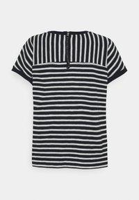 s.Oliver - KURZARM - Print T-shirt - navy strip - 1