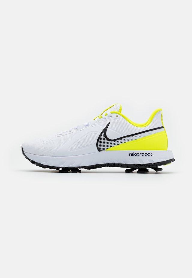 REACT INFINITY PRO - Scarpe da golf - white/black/lemon