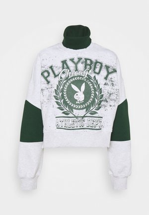 PLAYBOY VARSITY GARPHIC HIGH NECK SWEATER - Sudadera - grey marl