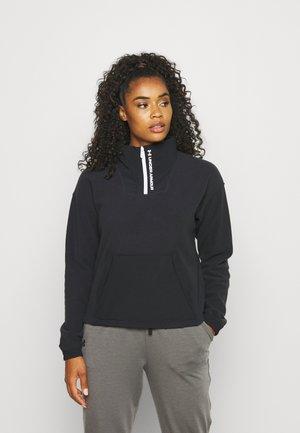 RUSH ZIP - Fleece jumper - black