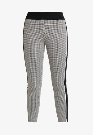 CHECKED TREGGINGS - Tracksuit bottoms - black