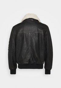 Diesel - L-STEPHEN JACKET - Leather jacket - black - 1