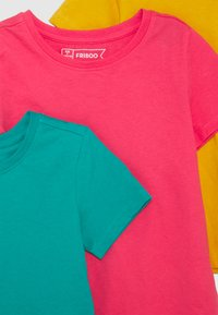 Friboo - 5 Pack - T-shirt z nadrukiem - berry/light grey/turquoise - 3