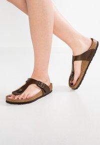 Birkenstock - GIZEH - T-bar sandals - graceful toffee - 0