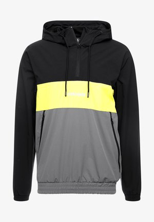 SHORE HOODED OVERTOP - Tunn jacka - dark grey/neon yellow/black
