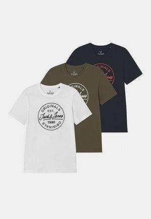 JORMORE CREW NECK 3 PACK - Print T-shirt - navy blazer