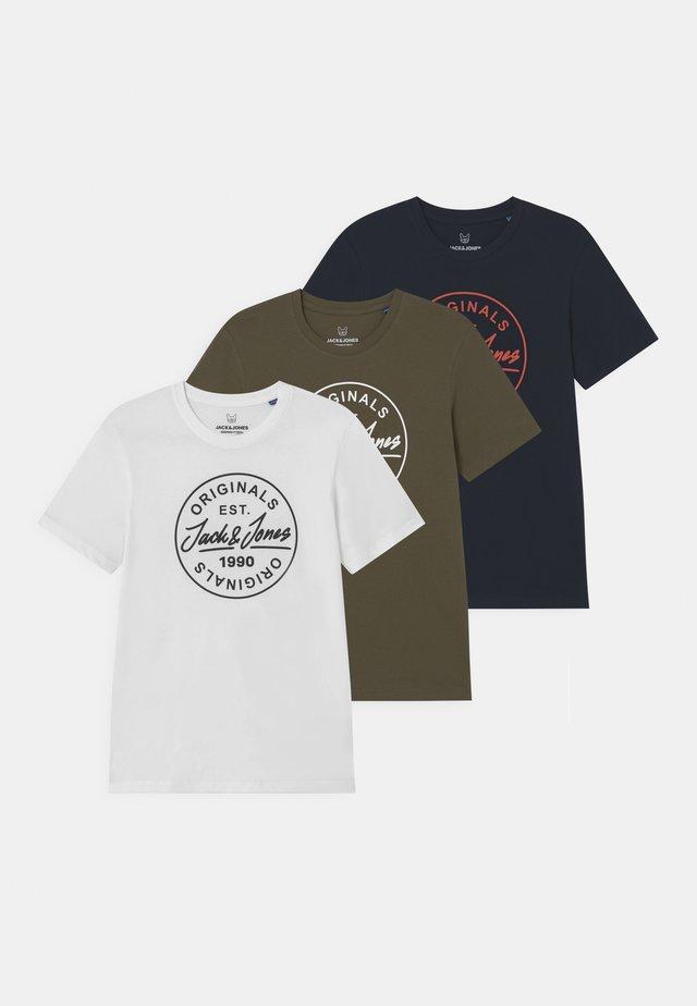 JORMORE CREW NECK 3 PACK - T-shirt imprimé - navy blazer