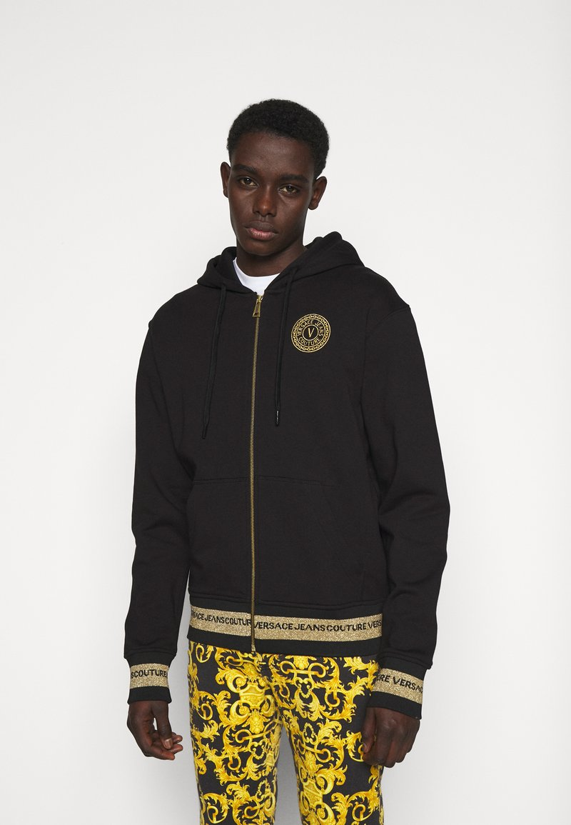 Versace Jeans Couture - Zip-up hoodie - black
