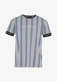 CLERTON - Print T-shirt - grey/navy