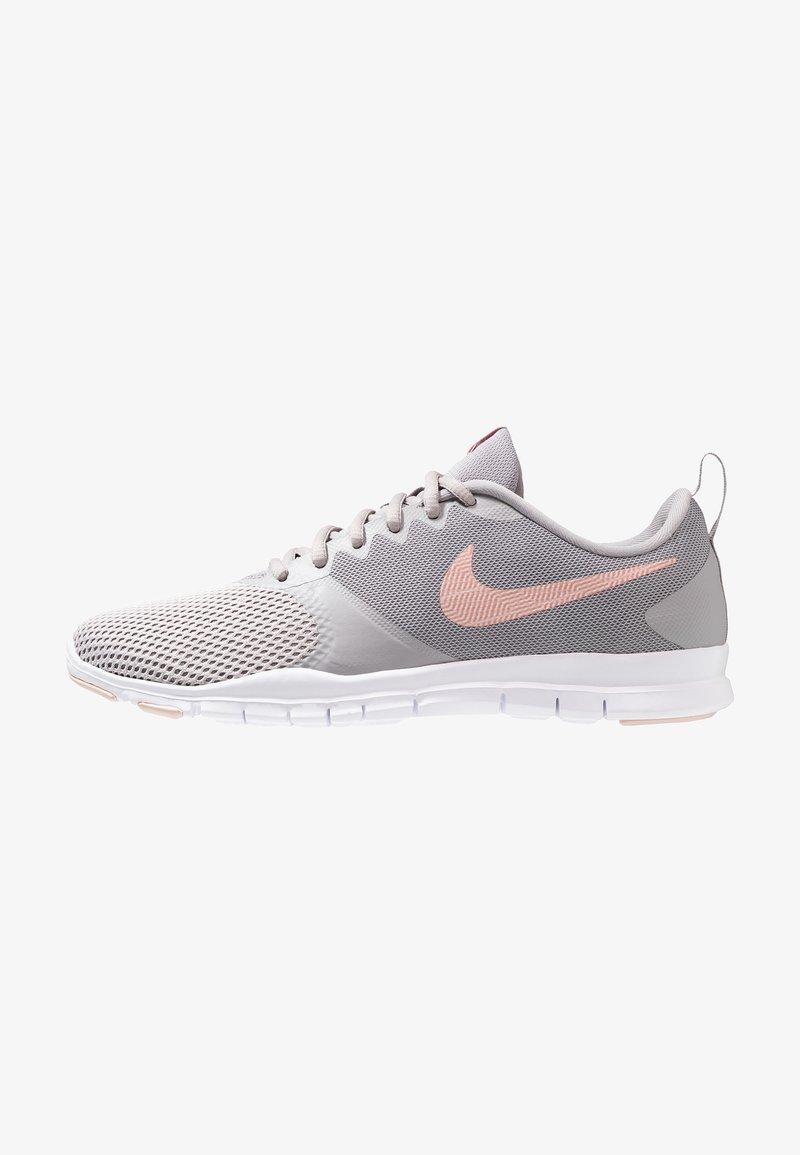 Nike Performance - WMNS NIKE FLEX ESSENTIAL TR - Sports shoes - atmosphere grey/pink quartz/echo pink/vast grey/white