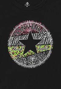 Converse - PRINT FILLED TEE - Top sdlouhým rukávem - black - 2