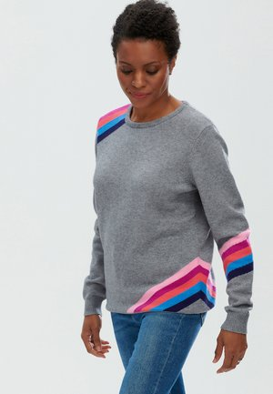 STACEY REFRACTED PRISM - Trui - grey