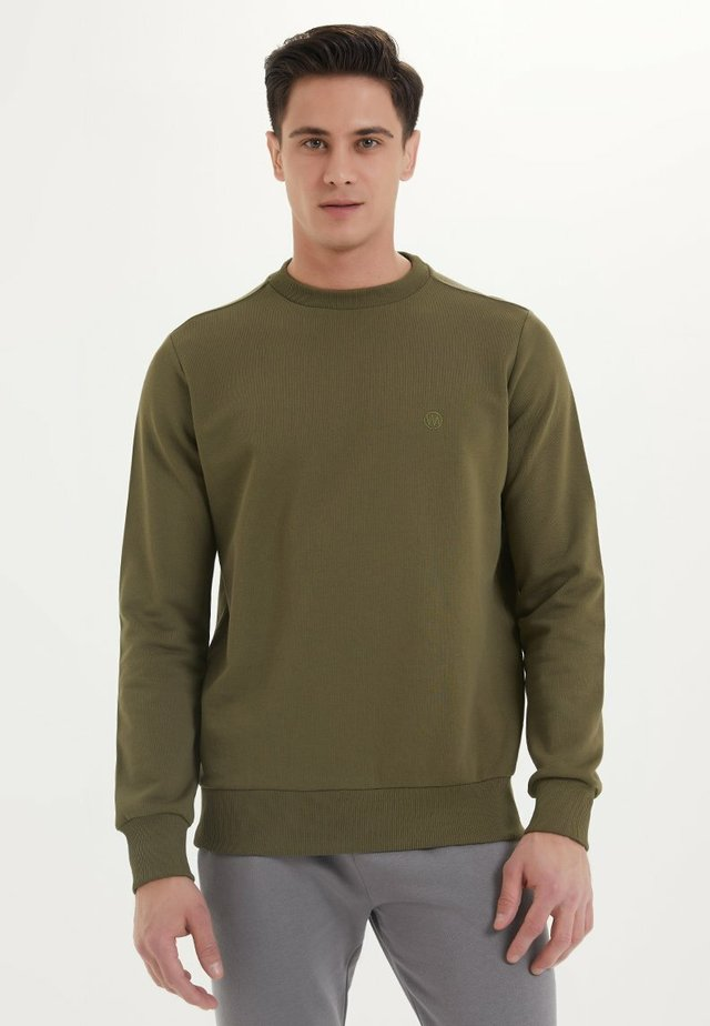 ESSENTIALS - Sweater - dark olive