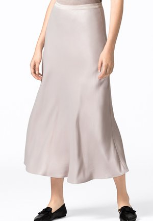 ROCK SWIRLING - A-line skirt - taupe