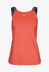 Nike Performance - ELASTIKA TANK - Treningsskjorter - laser crimson/black/metallic silver - 3