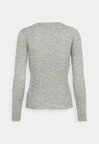 Selected Femme Petite - SLFCOSTA NEW DEEP UNECK - Neule - light grey melange - 6