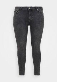 Pieces Curve - PCDELLY - Jeans Skinny Fit - dark grey denim - 5