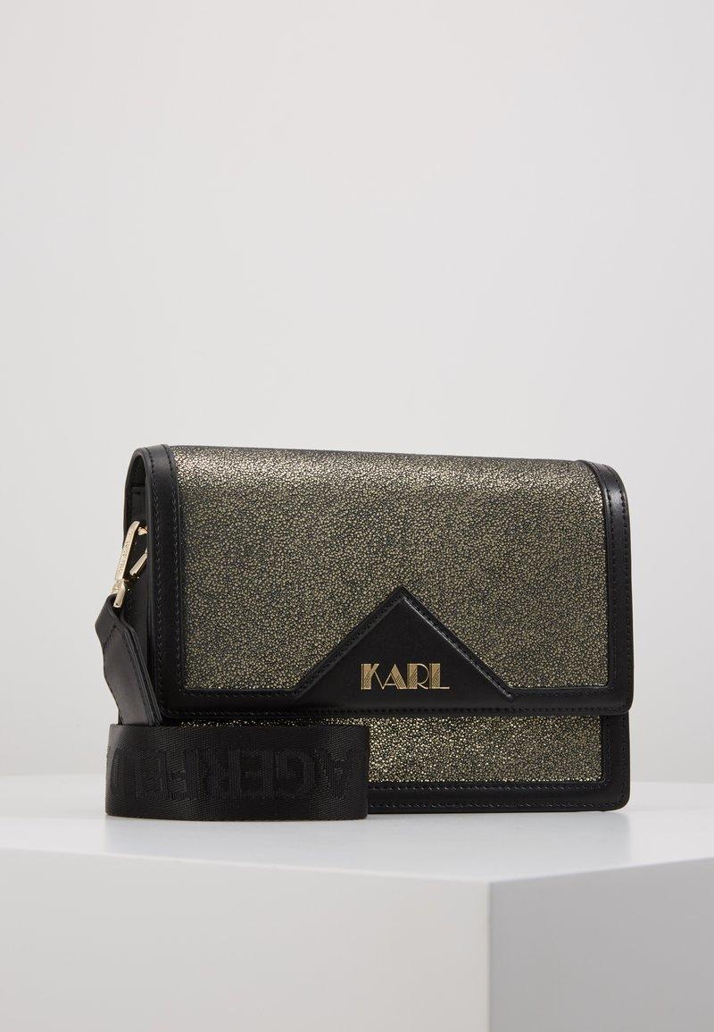 KARL LAGERFELD - SHOULDER BAG - Across body bag - bronze
