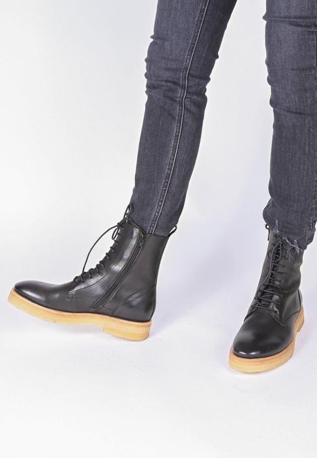 LILLIAN - Lace-up ankle boots - schwarz