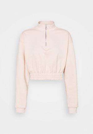 HALF ZIP SWEATSHIRT - Sweatshirt - nude