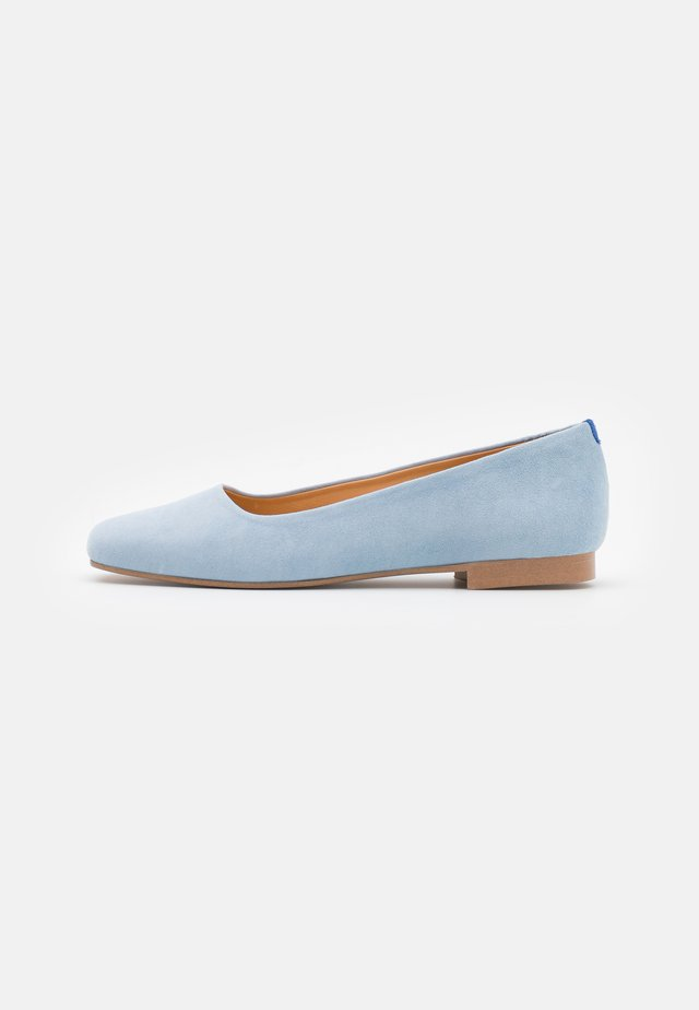 SQUARE TOE - Baleriny - light blue/grey
