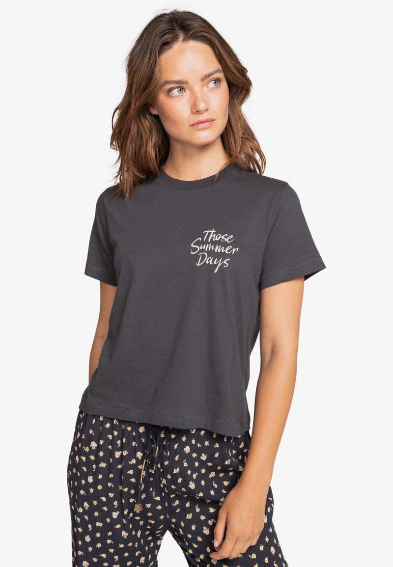 Billabong - Print T-shirt - off black