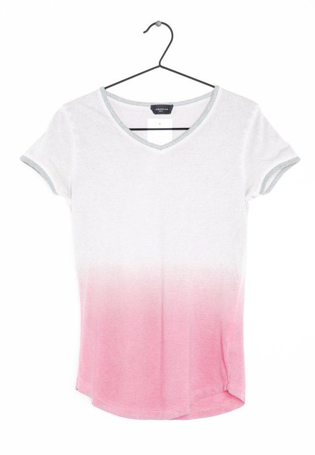 T-shirt print - white, pink