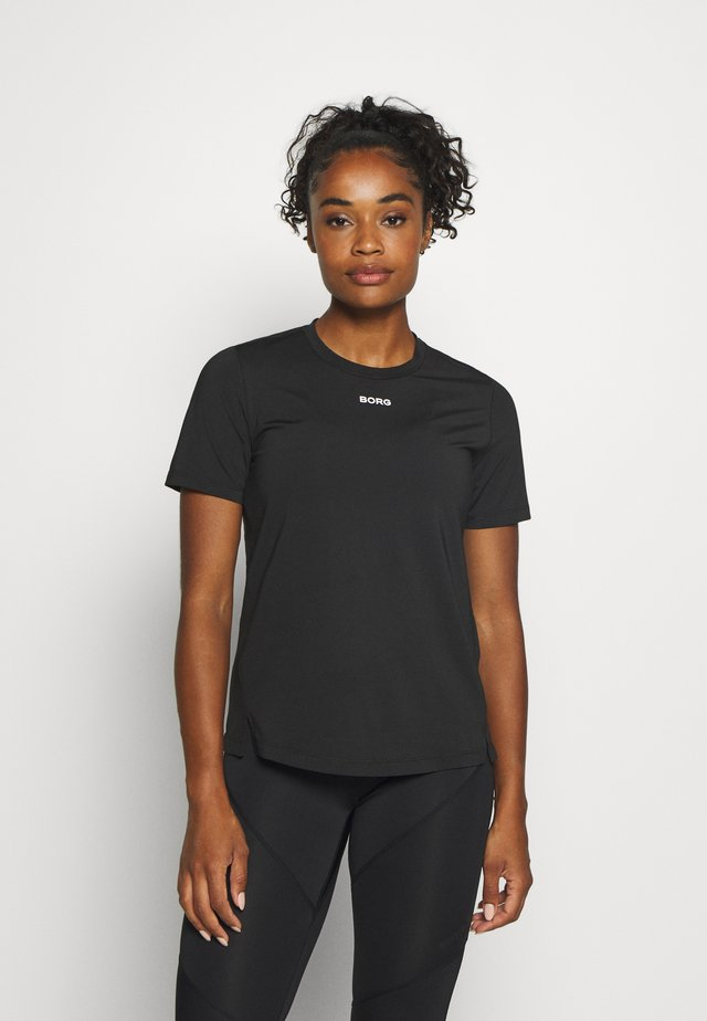 CATO TEE - Funktionsshirt - black beauty