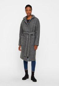 Noisy May - NMZOE  WOOLEN COAT - Classic coat - dark grey - 0