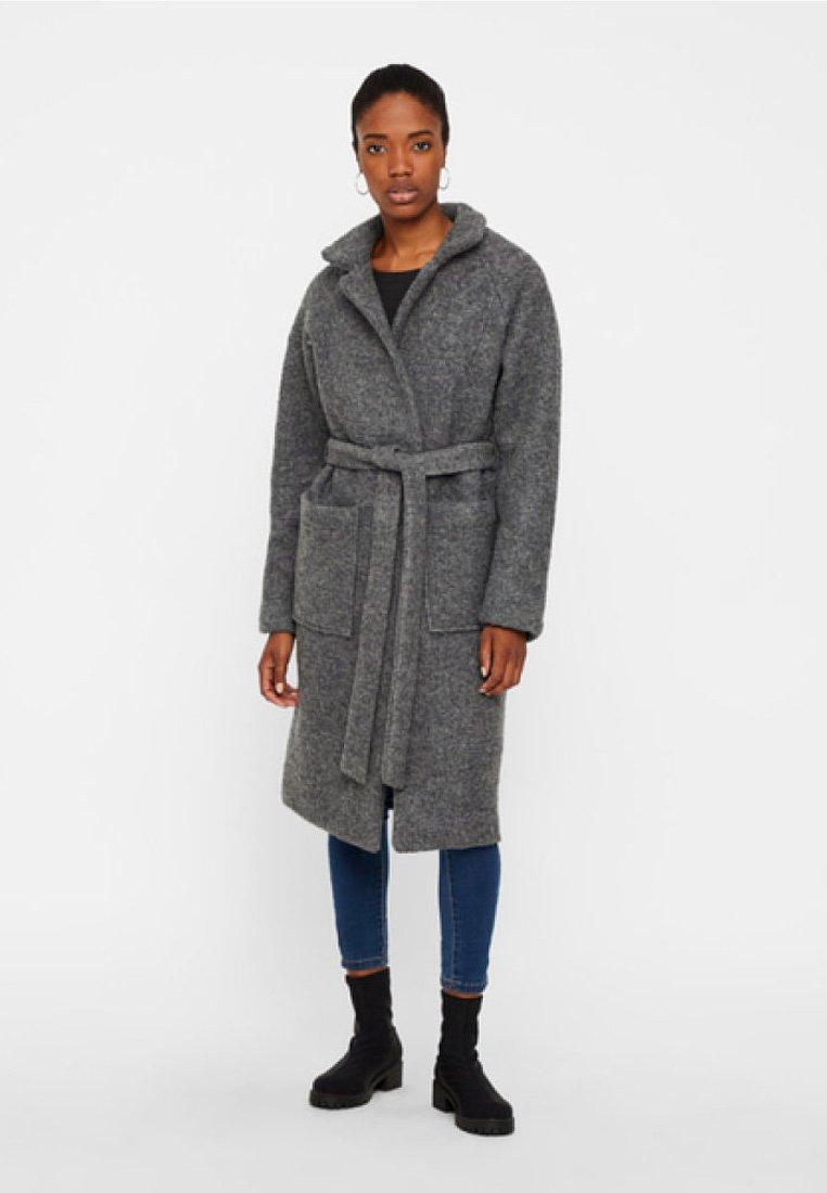 Noisy May - NMZOE  WOOLEN COAT - Classic coat - dark grey