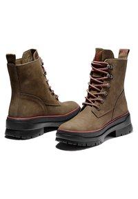 Timberland - MALYNN MID LACE EK+ WP - Lace-up boots - olive nubuck - 3