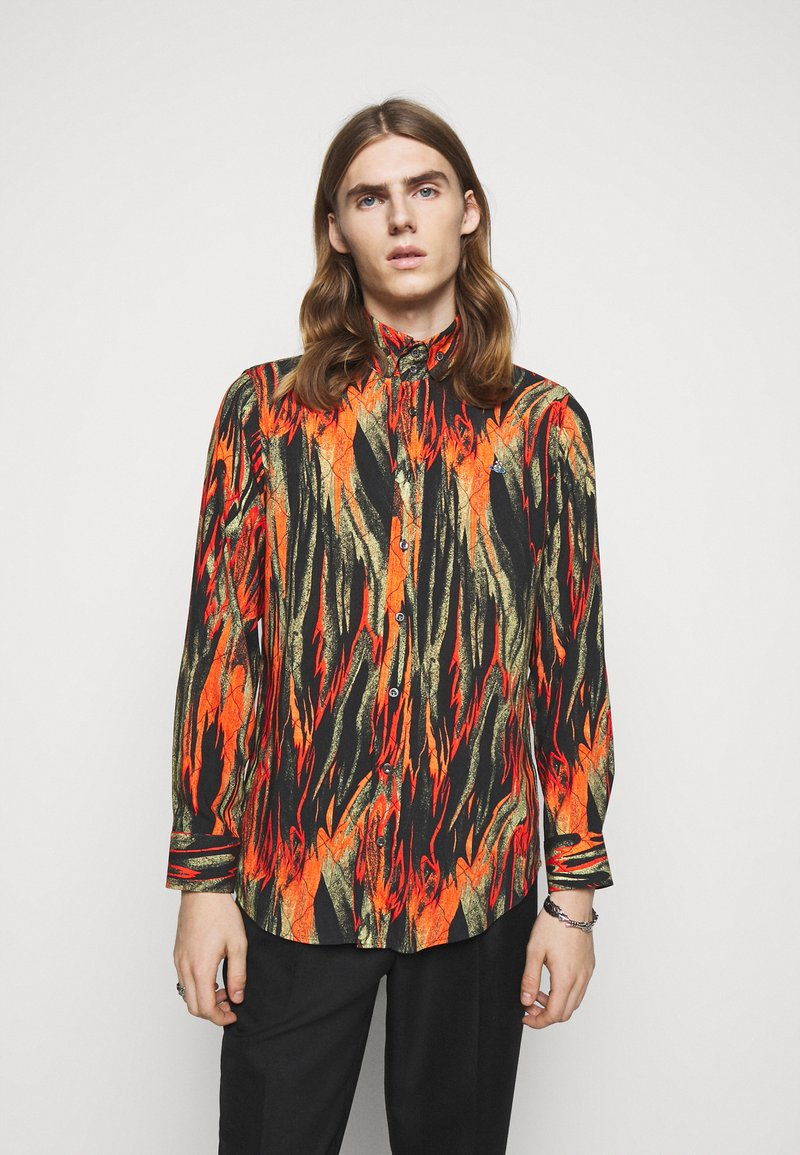 Vivienne Westwood - BUTTON KRALL - Shirt - black/orange/olive