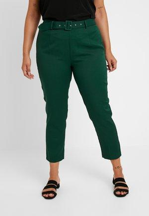 SELF BELT TROUSERS - Kalhoty - deep green/teal