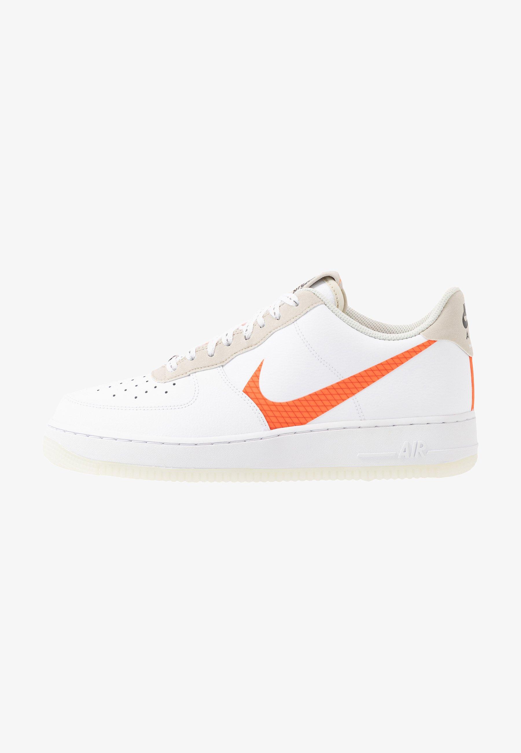 Nike Sportswear Air Force 1 07 Lv8 Sneaker Low White Total Orange Summit White Black Weiß Zalando De