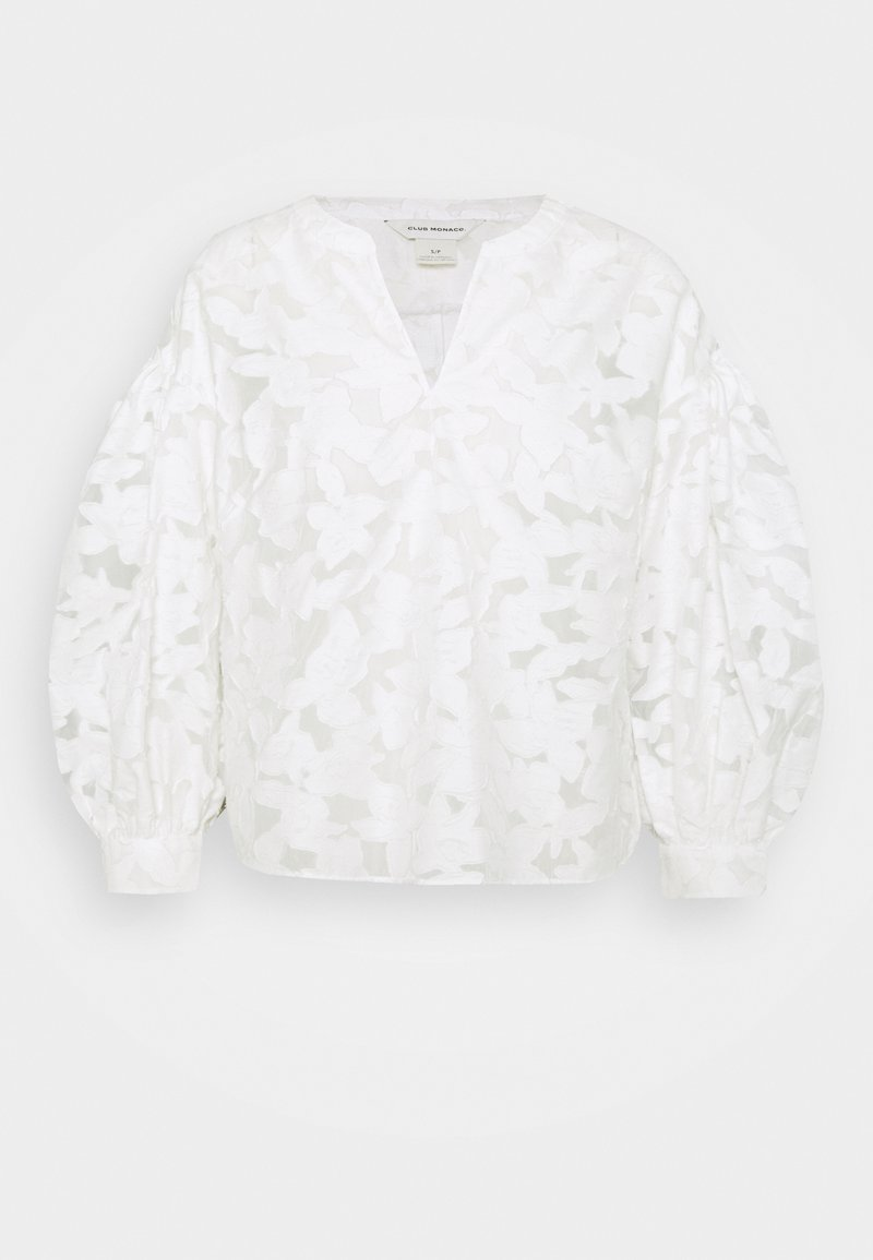 Club Monaco - SCULPTURAL LONG SLEEVE SHIRT - Blouse - blanc de blanc