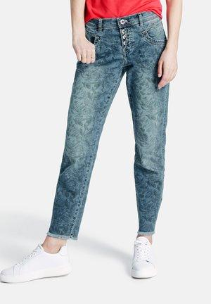 Slim fit jeans - blue denim gemustert