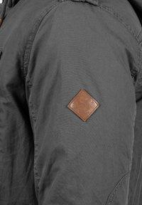 Solid - WINTERJACKE CLARKI TEDDY - Winter coat - dark grey - 4