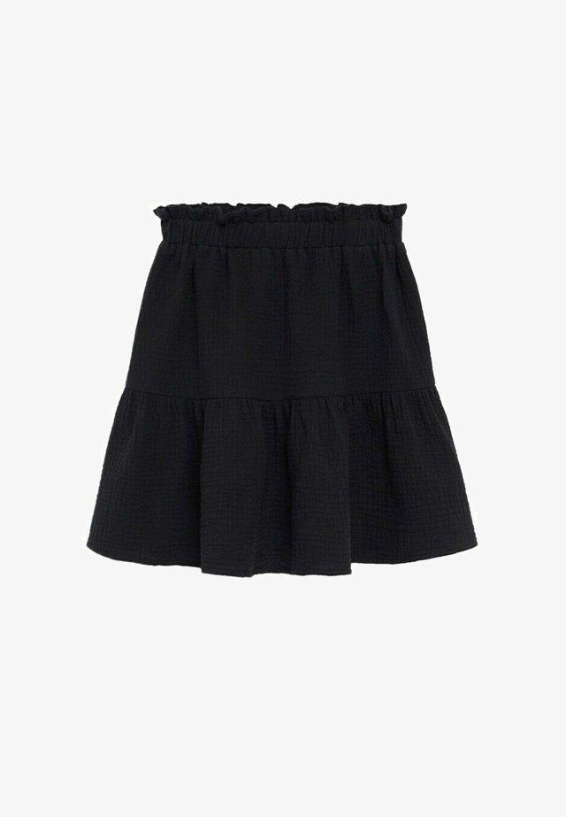 FLORIA - A-linjekjol - zwart