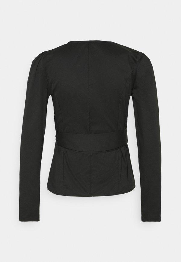 Glamorous WRAP TIE BLOUSE - Bluzka - black/czarny LIUE
