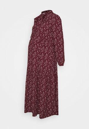 DRESS - Vestido camisero - maroon ditsy