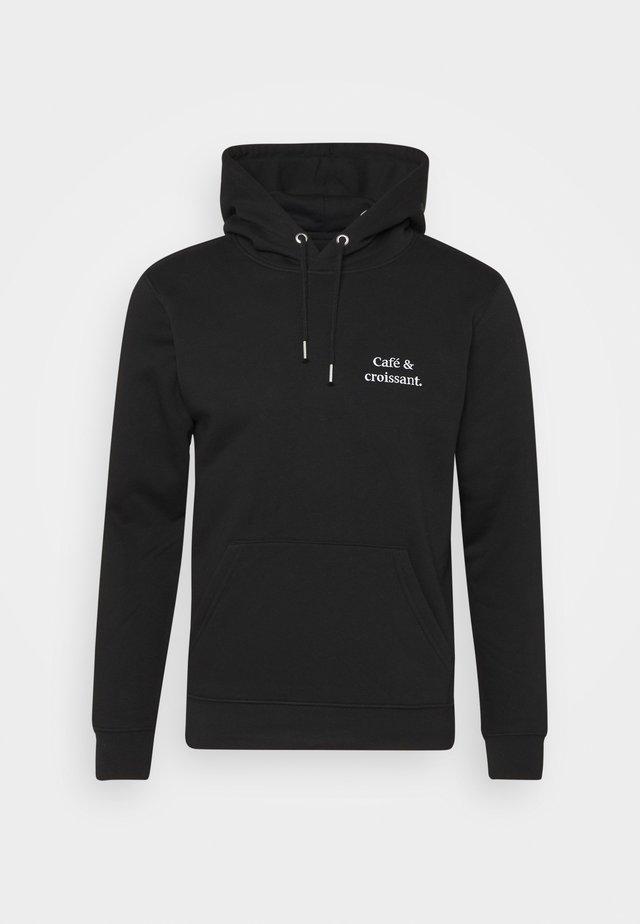 HOODIE CAFÉ & CROISSANT UNISEX - Sweatshirt - black