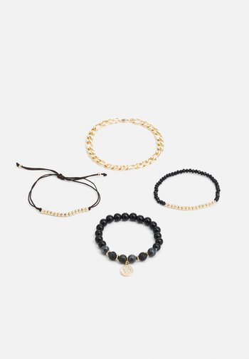CHAIN AND BEAD MULTIPACK - Armband - black mul