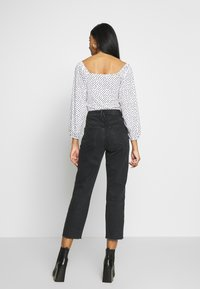 River Island - Jeans straight leg - washed black - 0