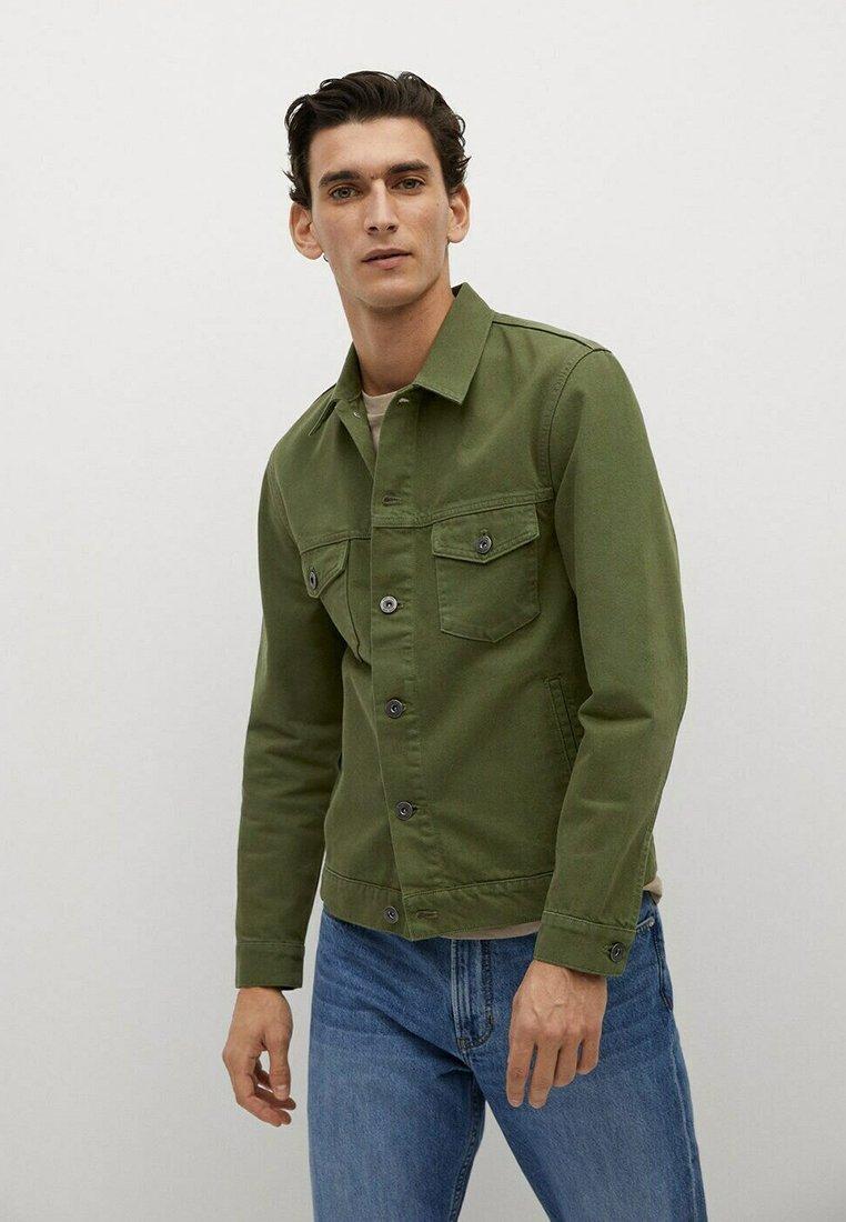 Mango - Denim jacket - khaki