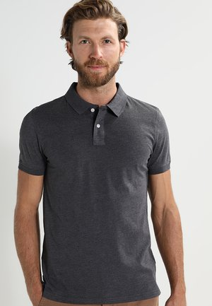 Polo shirt - dark grey melange